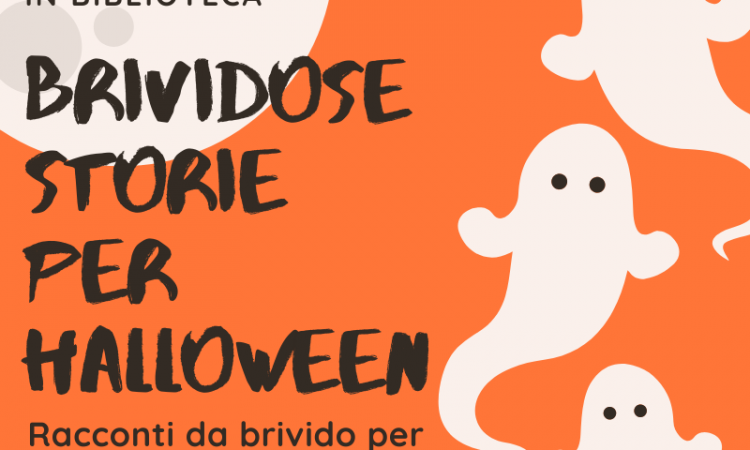 Locandina dell'iniziativa Brividose storie per Halloween